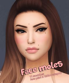 Face Moles for The Sims 4 Sims 4 Cc Eyes, Sims 4 Mm Cc, Sims Four, Los Sims 4 Mods, Sims 4 Game Mods, Maxis, Moles On Face, Sims 4 Tattoos, Tatoos