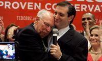 Rafael Cruz (racist, birther) campaigning for his son Ted Cruz (Senator, TX)