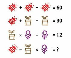 Brain Teasers With Answers, Math Talk, Counting Activities, Picture Puzzles, Maths Puzzles, Brain Games, Riddles, Mathematics, Todays Number