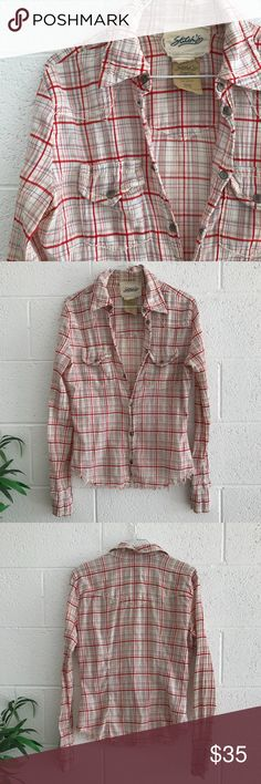 """Stitch's Rodeo Western Shirt 100% Cotton, chest (wire) pockets, snap buttons with Native American detail.  Size Small, great color and pattern.  Frayed bottom hem In excellent preloved condition 25"""" Long Shoulder to bottom  19"""" Wide armpit to armpit hem Stitch's Tops Button Down Shirts"""