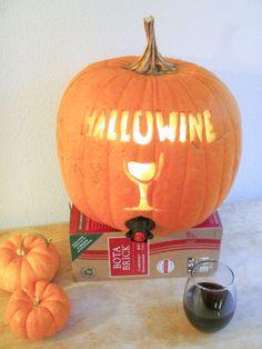 Pumpkin Wine Cooler by kelleymarie http://www.instructables.com/id/Pumpkin-Wine-Cooler/