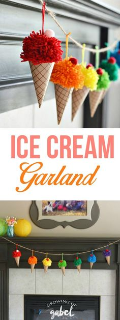 Ice Cream Cone Garland