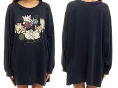 Cat Sweatshirt Dress Kitten Yarn 80s Cat Shirt 90s by ShopExile