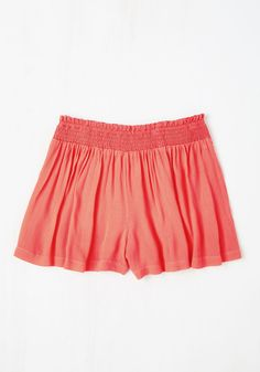 Discovery Little Thing Shorts in Coral. Every outing in these coral shorts becomes a carefree adventure! #coral #modcloth