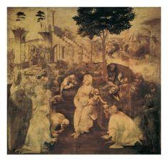 Adoration of the Magi Giclee Print by Leonardo da Vinci at Art.com