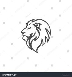 Logo Discover Angry Roar Lion Head Black White Stock Vector (Royalty Free) 733517671 Angry Roar Lion Head Black And White Vector Logo Design Illustration Template Lion Head Drawing, Lion Drawing Simple, Lion Tattoo Design, Tattoo Designs, Lion Vector, Vector Art, Lion Logo, Lion Head Logo, Simple Lion Tattoo