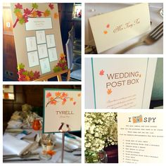 Autumn inspired wedding stationery by made marvellous