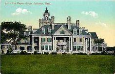 Fairhaven Massachusetts MA 1908 Henry Rogers Mansion Antique Vintage Postcard