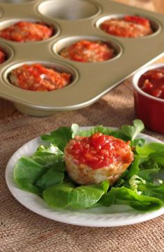 Turkey Meatloaf Muffins with Peach Salsa - freezeable for a protein-packed healthy dinner in minutes!