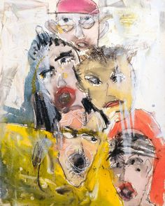 "Michael Hafftka - Chorus 2016 30"" X 22"" watercolor and crayon on Fabriano Tiepolo"