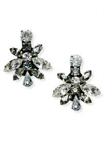Truly Zac Posen bold mixed crystal geometric earrings.  Geometric earrings features sparkling bold mixed crystal detail.  Available in Crystal. One size.  Imported. http://www.davidsbridal.com/Product_Bold-Mixed-Crystal-Geometric-Earrings-ZP702013_Bridal-Gowns-Shop-By-Designer-Truly-Zac-Posen