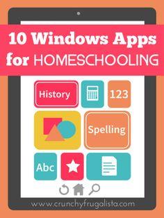 Windows Apps for Homeschool