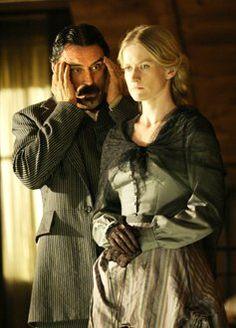 Ian McShane (Al Swearengen) Paula Malcomson (Trixie) in Deadwood