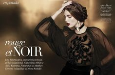 emily didonato2 Emily DiDonato is Glam in Black for Vogue Latin Americas A/W 2012 Beauty Supplement