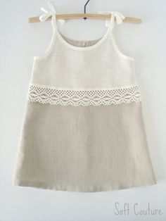 Linen dress for little beauty Soft Couture by SoftCouture on Etsy, $51.00