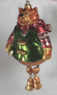 Blown Glass Fat Cat Christmas Ornament ~ Fishing | eBay Cat Christmas Ornaments, Christmas Cats, Fat Cats, Cat Tree, Blown Glass, Fishing, Holiday Decor, Xmas, Scratching Post