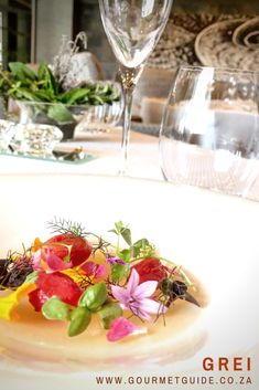 The culinary journey at Grei is an unforgettable one.six courses of innovative dishes that are simply stunning from start to finish. Finesse, flair and flavour. Fine Dining, Restaurant, Dishes, Table Decorations, Hot, Recipes, Gourmet, Kitchens, Twist Restaurant