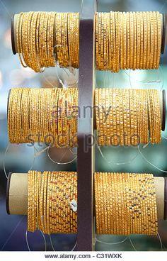 Gold jewelry in Dubai gold bazaar …