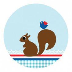 Snailmail Sticker eekhoorn