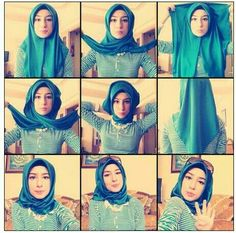 Turkish Hijab Style.Turkish style is so easy to do and scarf is often from silk so it's soft for Summer.You can easy do it.