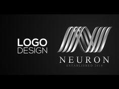 Professional Logo Design - Adobe Illustrator cs6 (Neuron) - YouTube