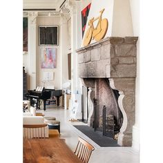 """There is no place more delightful than one's own fireplace"" - Cicero #interior #interiordesign #desaininterior #perapian #livingroom #fireplace #dekorasi #decoration #roomdecoration"