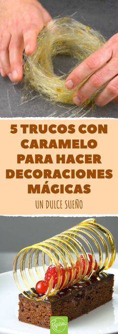 5 trucos con caramelo para hacer decoraciones mágicas #decoracionconcaramelo #figurasdecaramelo #decoracionesparapasteles #comodecorarpasteles #decoracionesconcaramelo #mariposadecaramelo #recetadecaramelo Hally Berry, Nutella Pancakes, Delicious Desserts, Yummy Food, Food Decoration, Mousse Cake, Desert Recipes, Cakes And More, Food Plating