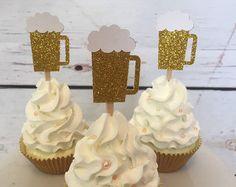 Torta de taza de cerveza 21 cumpleaños 30 por GoldenArrowBoutique