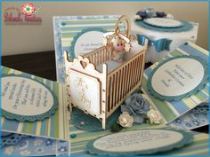 Baby Boy with Cot Exploding Box Card                                                                                                                                                                                 More