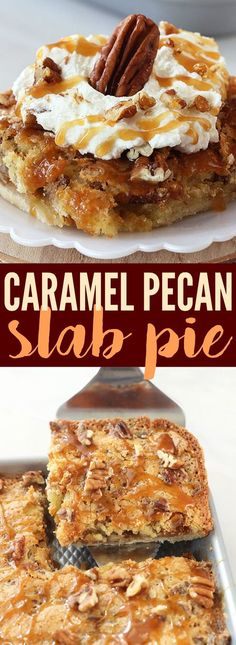 This Caramel Pecan Slab Pie is the perfect dessert for the holidays! A buttery crust is topped with crunchy pecans and a sweet caramel filling, then baked on a sheet pan. @H-E-B #primopicks #sponsored