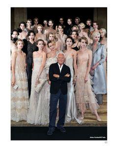 Focus on Giorgio Armani in Paris chapter. #GiorgioArmani #HauteCouture #catwalks #fashion #woman #style #clothes #dress #look