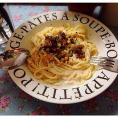 ソースはキューピーのです笑 でも凄く美味しい!!ヽ(≧▽≦)ノ - 30件のもぐもぐ - チーズクリームパスタ by nanatas07