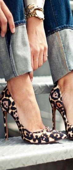 animal print street style ~ let's get these too!
