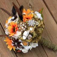 Hunting camouflage wedding pictures