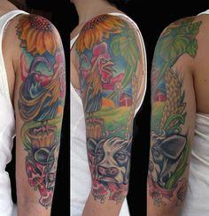 Tattoo by tori bracken at exile tattoo olympia wa for Magic cobra tattoo