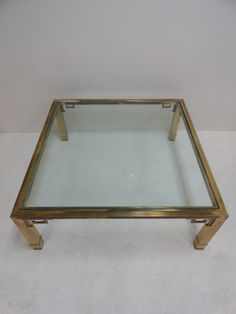 Vintage Greek Key Brass Coffee Table - Mecox Gardens