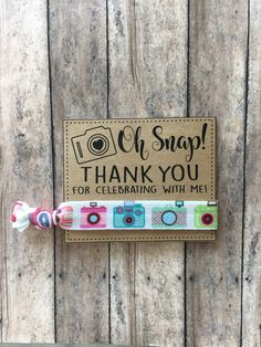 Oh Snap,Oh Snap birthday,Camera theme birthday,Selfie theme party favors,Girly Favors,Sleepover favors,teen party favors,Teen Birthday by GlamGirlGoodies on Etsy