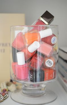 Summer Go-To's | Cupcakes & Cashmere: pink - Essie 'Lovie Dovie', orange - OPI 'A Roll in the Hague', Coral - Orly 'Terracotta.'
