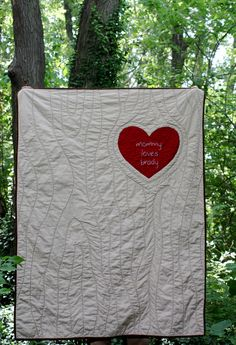 Tree carving quilt--LOVE this for a wedding gift :)