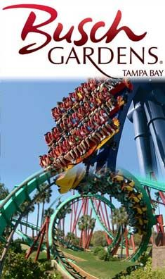 Congo River Rapids ride at Busch Gardens Tampa Florida USA