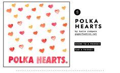 Polka hearts valentine from @kate spade new york