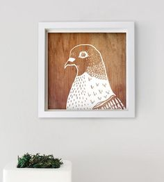 Pigeon & Wood Art Print by Seven Olives on Scoutmob Shoppe