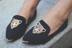 Fancy - Leopard Head Loafers