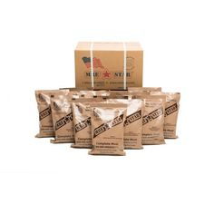 The MRE Case of 12 is a great way to add the highest-quality MREs into your food storage and emergency supplies. Buy military style meals from the Ready Store. Survival Backpack, Survival Gear, Survival Stuff, Survival Quotes, Wilderness Survival, Meal Ready To Eat, Non Dairy Creamer, Emergency Food Storage, Dehydrated Food