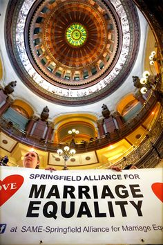 Illinois House Passes Marriage Equality Bill! 11-5-2013! Governor will sign! Couples can begin applying for marriage licenses on June 1st! :-)
