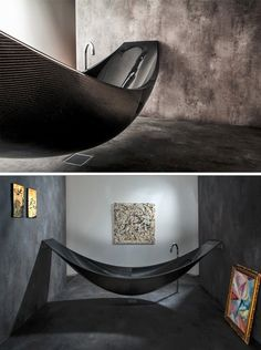 Gorgeous hammock bathtub