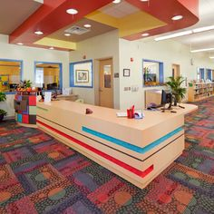 Elementary school reception desk