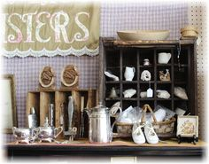 Antique Smalls Display. Great, rare finds.