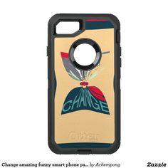 Change amazing funny smart phone pattern design #OtterBox defender #iPhone 7 case