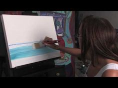 How To Paint Ocean Water pt 1 of 2 - YouTube